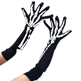 ericdress cosplay crâne halloween gants