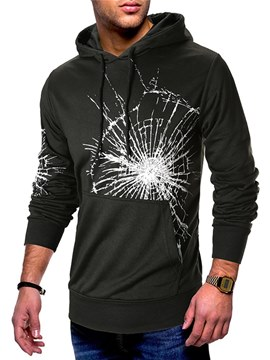 Ericdress Printed Hooded Pullover Mens Casual Hoodies