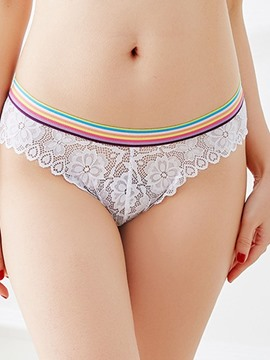 Ericdress Colorful Belt Flower Lace Sexy Women's Briefs
