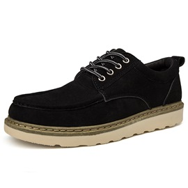 Ericdress Suede Round Toe Lace-Up Men's Work Shoes