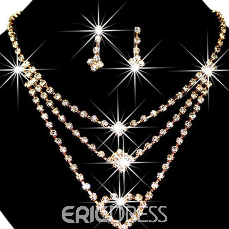 Ericdress Wedding Heart Jewelry Set