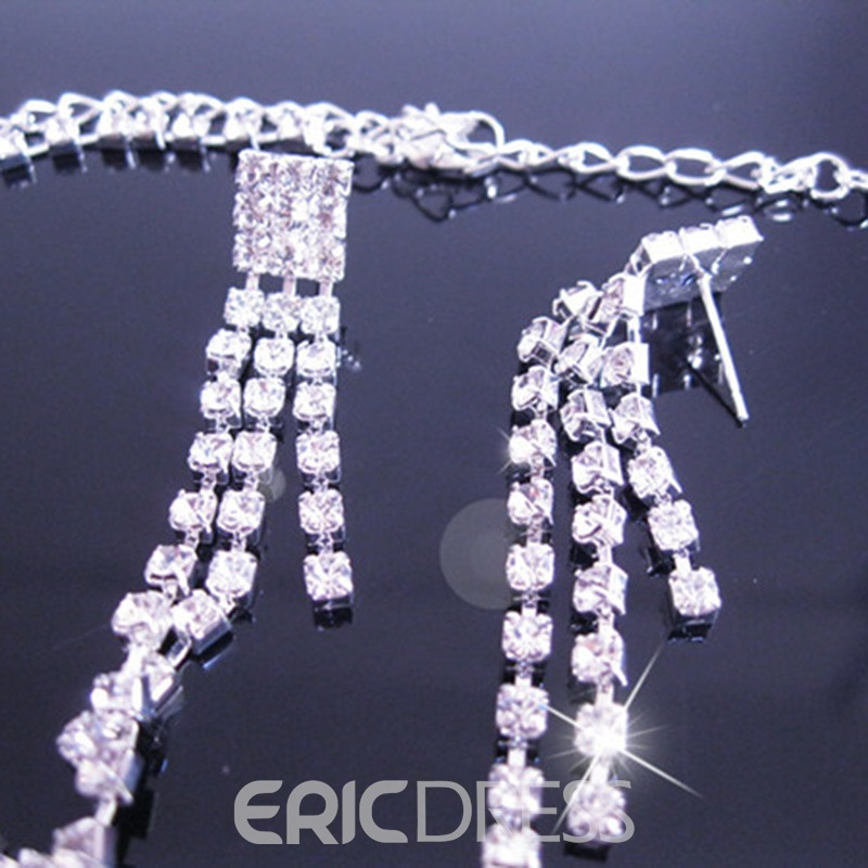 Ericdress Wedding Bride Diamante Shining Jewelry Set
