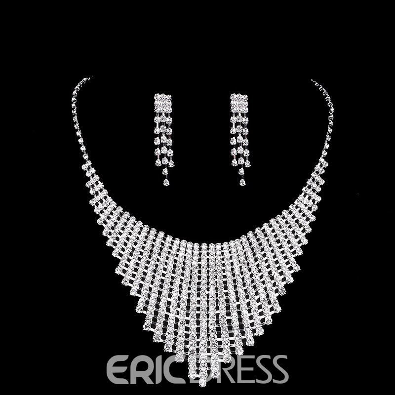 Ericdress Wedding Diamante Shining Jewelry Set