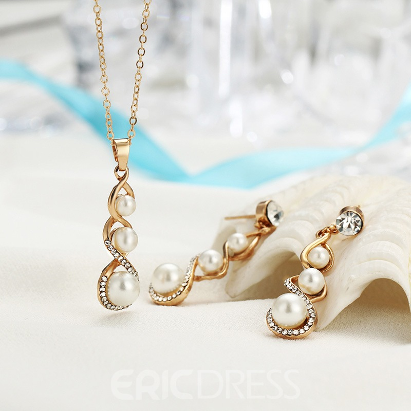 Ericdress Alloy Pea Pearl Jewery Set