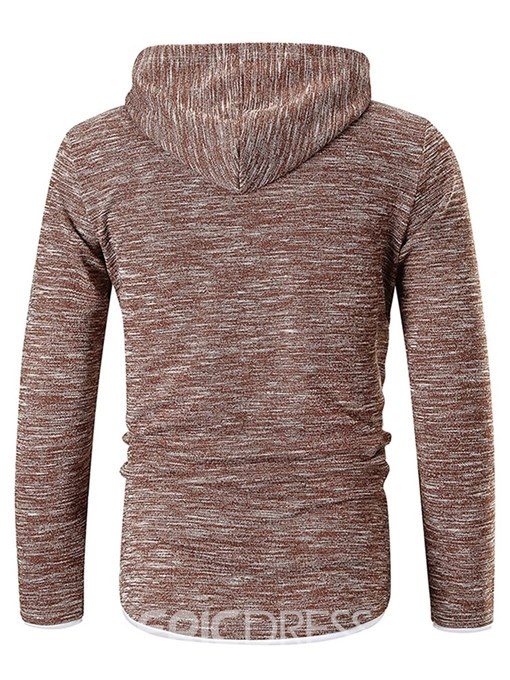 Ericdress Plain Hooded Pullover Mens Causual Hoodies