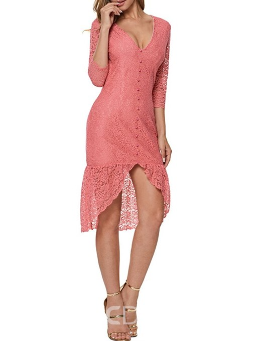 Ericdress Lace Patchwork Bodycon Women's Dress