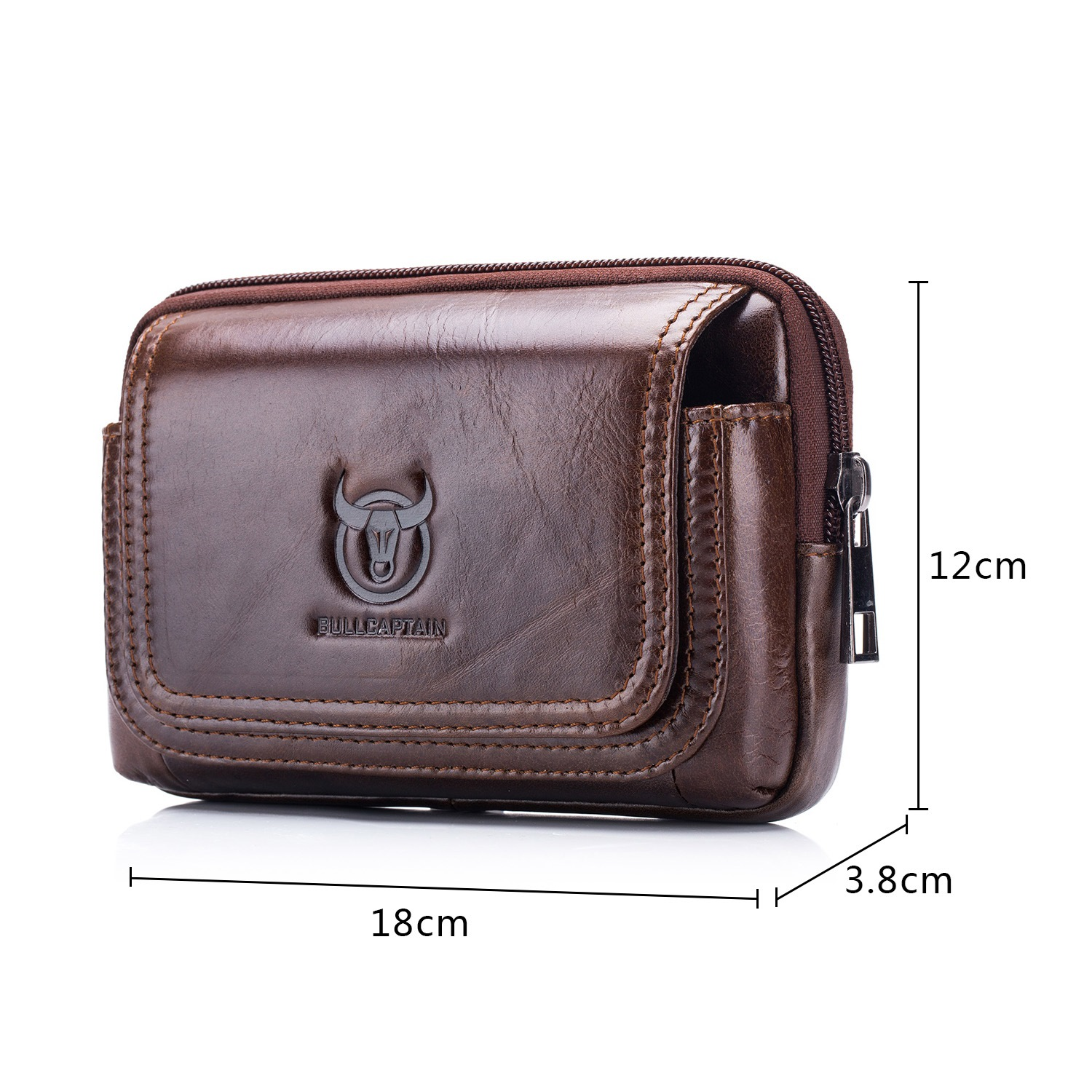 Ericdress Men Leather European Waist Bags