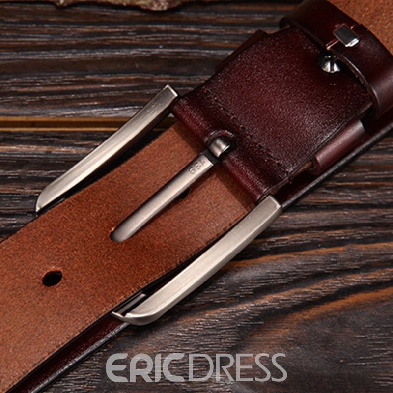 Ericdress Leather Pin Buckle Casual Alloy Belt