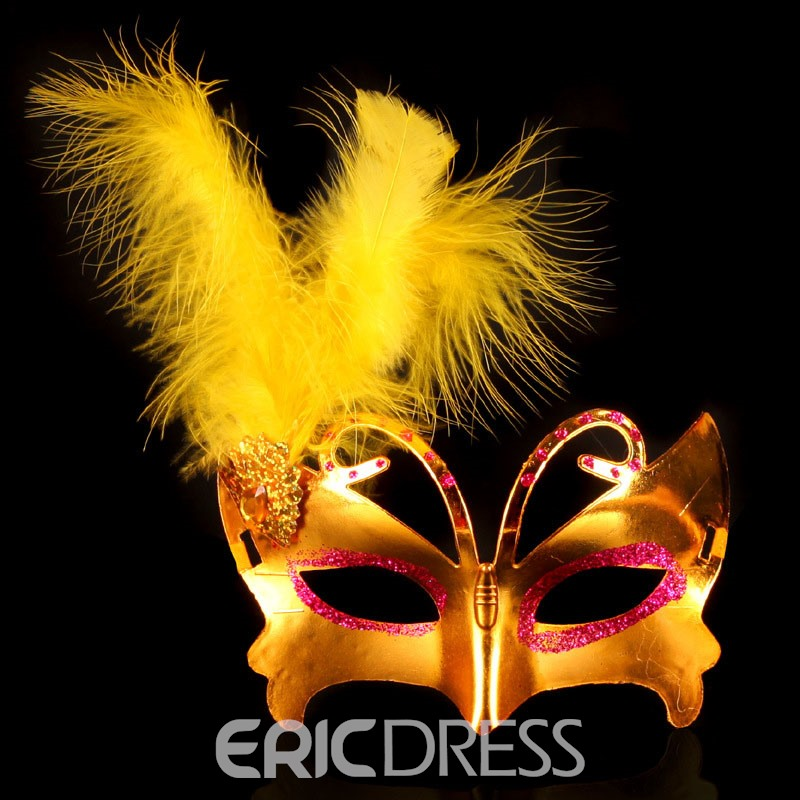 Ericdress Halloween Color Feather Mask