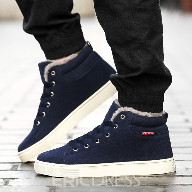 Ericdress Plain High-Cut Upper Lace-Up Men's Boots