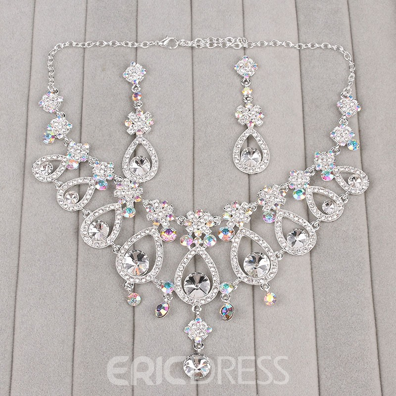 Ericdress Drop-Shaped Diamante Wedding Jewelry Set
