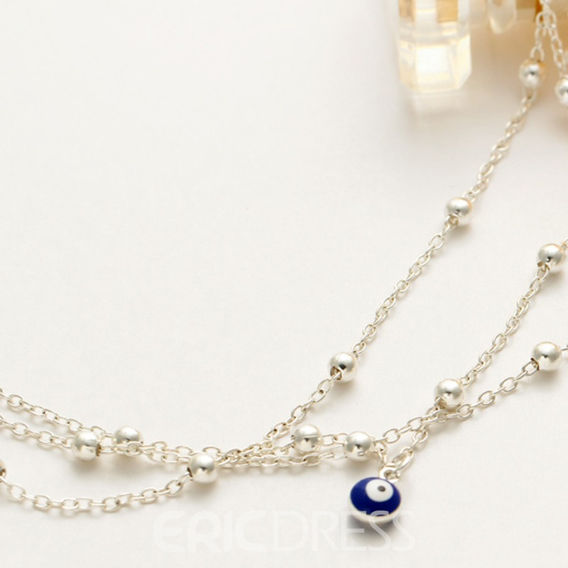 Ericdress Multilayer Chain Beads Anklet