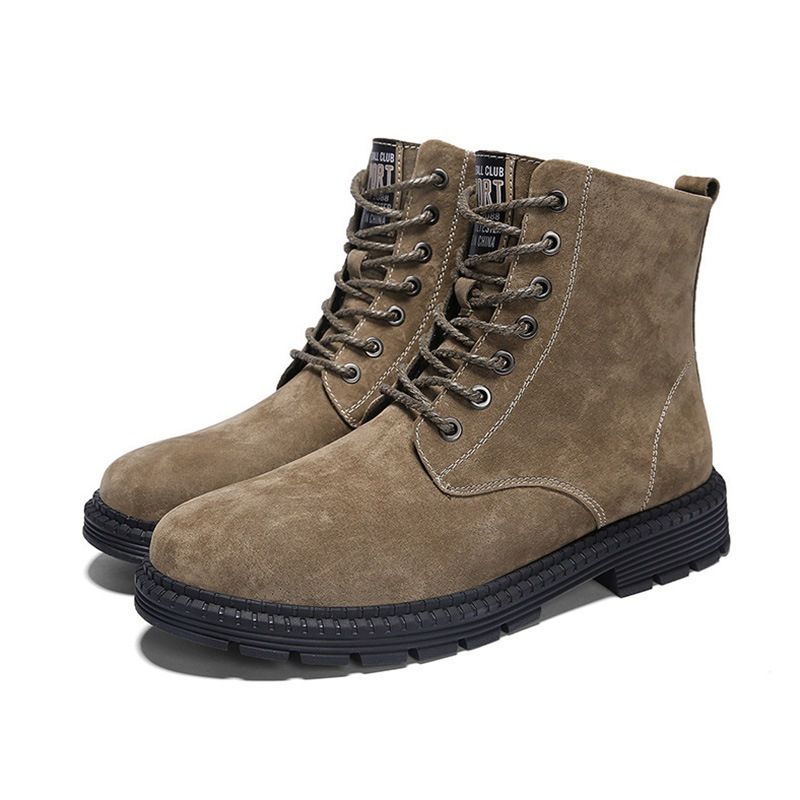 Ericdress Round Toe Lace-Up Front Men's Winter Boots