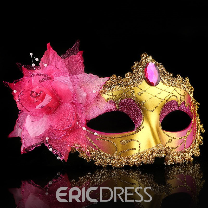 Ericdress Halloween Flowers Party Mysterious Mask