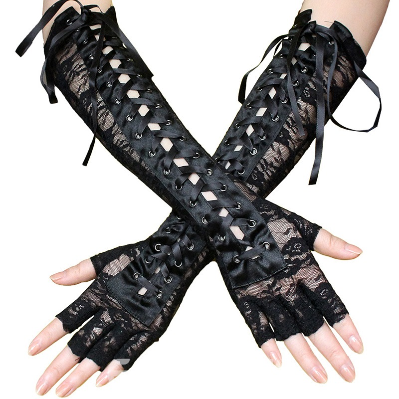 Ericdress Halloween Gothic Lace Sexy Women's Gloves