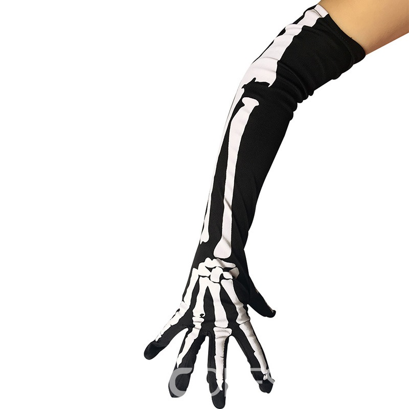 Ericdress Cosplay Skull Halloween Gloves