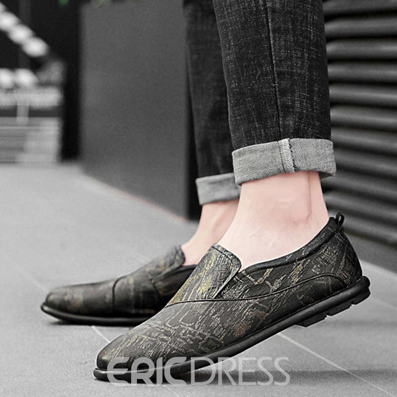 Ericdress PU Round Toe Slip-On Men's Casual Shoes