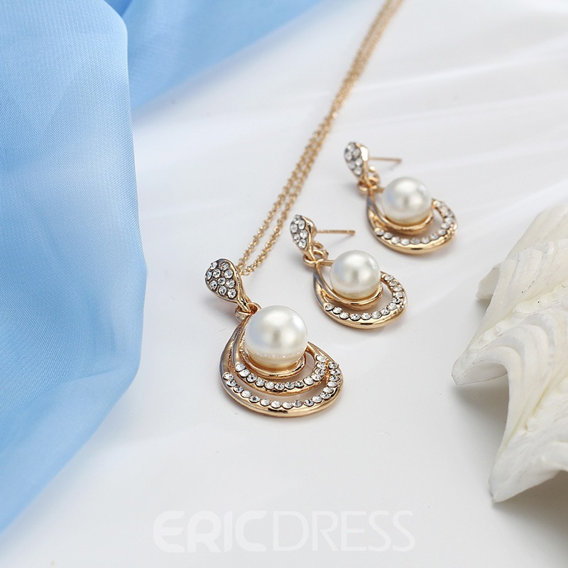 Ericdress Pearl Alloy Jewelry Set