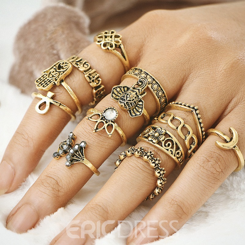 Ericdress Alloy Opal Rings For Women