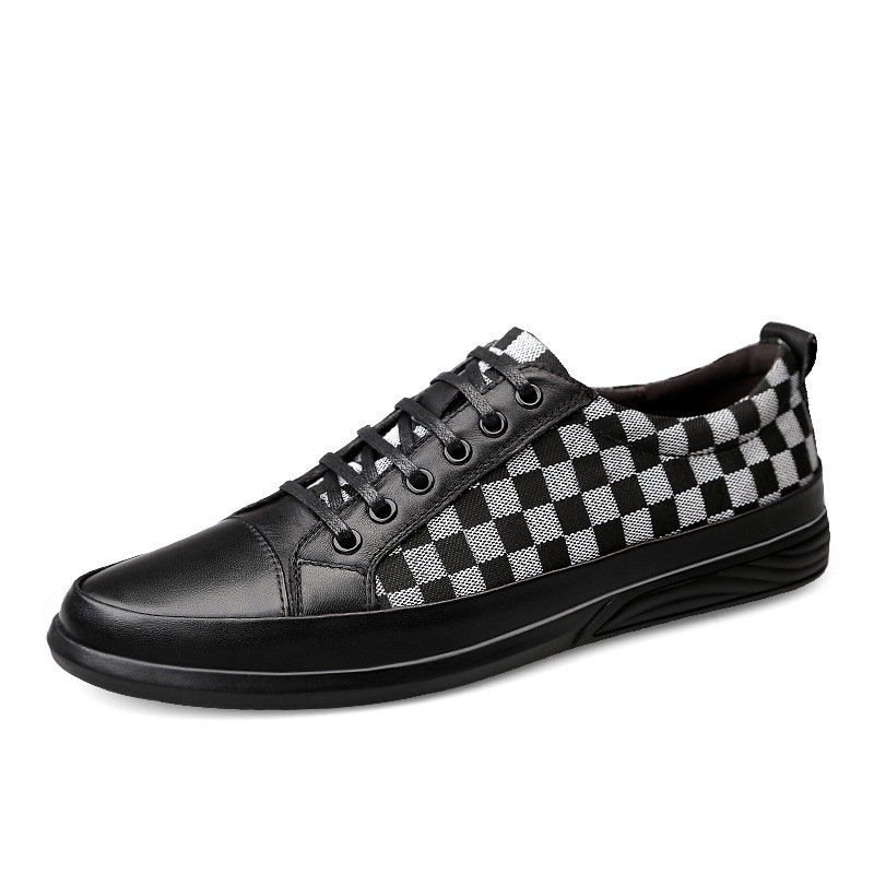 Ericdress Plaid Low-Cut Upper Men's Casual Shoes