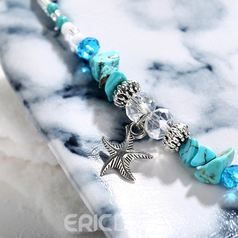 Ericdress Kallaite Star Beads Anklets