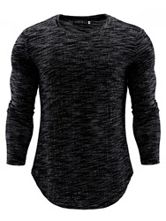 Ericdress Casual Round Neck Mens Slim T-shirt фото