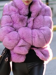 Ericdress Ladylike Thick Long Sleeves Faux Fur Coat фото