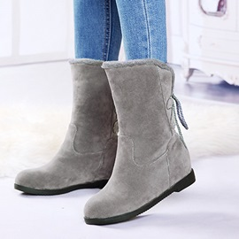 Ericdress Plain Hidden Elevator Heel Women's Snow Boots