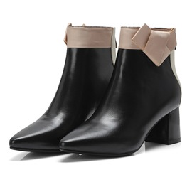 Ericdress Pointed Toe Back Zip Chunky Heel Women's Boots