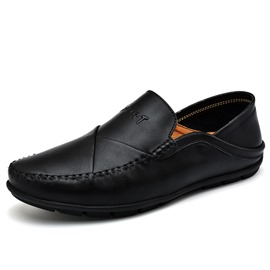 Ericdress PU Plain Round Toe Slip-On Men's Shoes