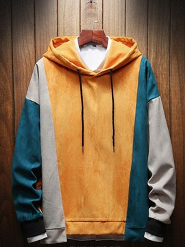 Ericdress Patchwork Hooded Loose Pullover Mens Casual Hiphop Hoodies