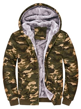 Ericdress Hooded Camouflage Print Zipper Men's Hoodie