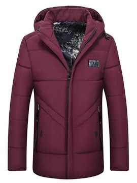 Ericdress Plain Hooded Thick Mens Casual Winter Coats