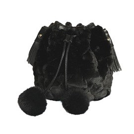 Ericdress Faux Fur Barrel-Shaped Shoulder Bags