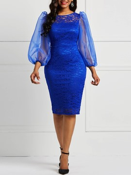 Ericdress Bodycon Long Sleeve Lace Ladylike Pencil Dresses
