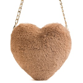 Ericdress Plain Faux Fur Corduroy Crossbody Bags