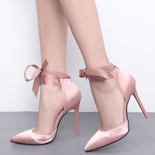 Ericdress Pointed Toe Lace-Up Stiletto Heel Women's Pumps