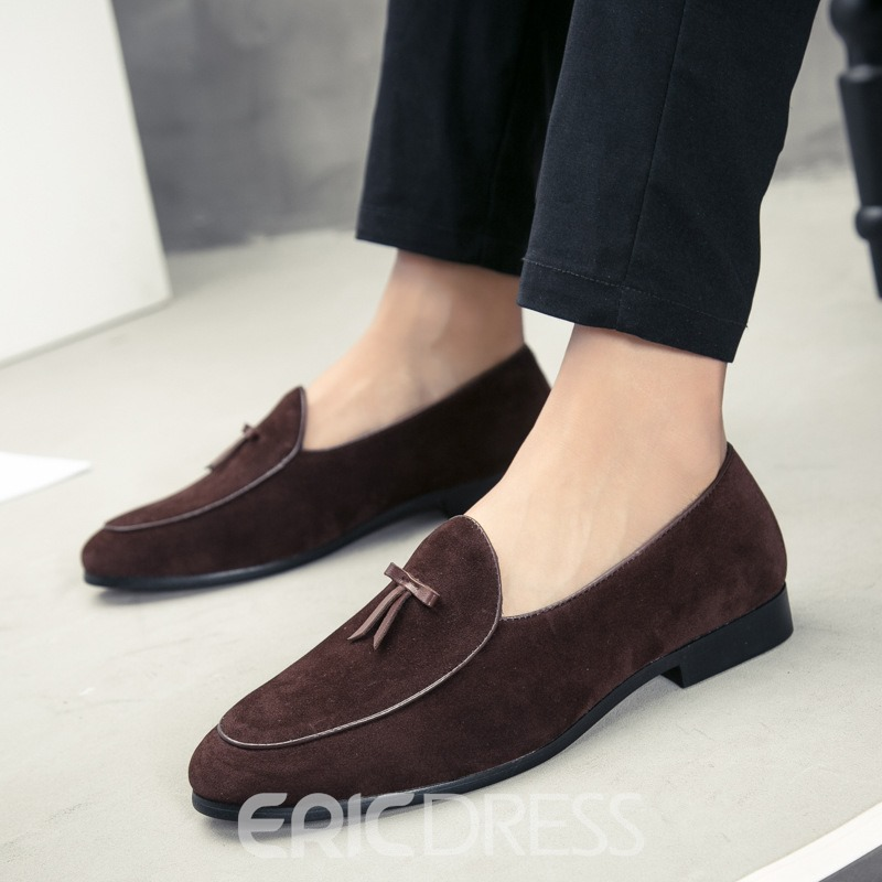 Ericdress Plain Bowknot Low-Cut Upper Men's Shoes