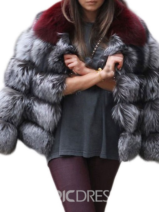 Ericdress Faux Fur Thick Standard Long Sleeves Coat