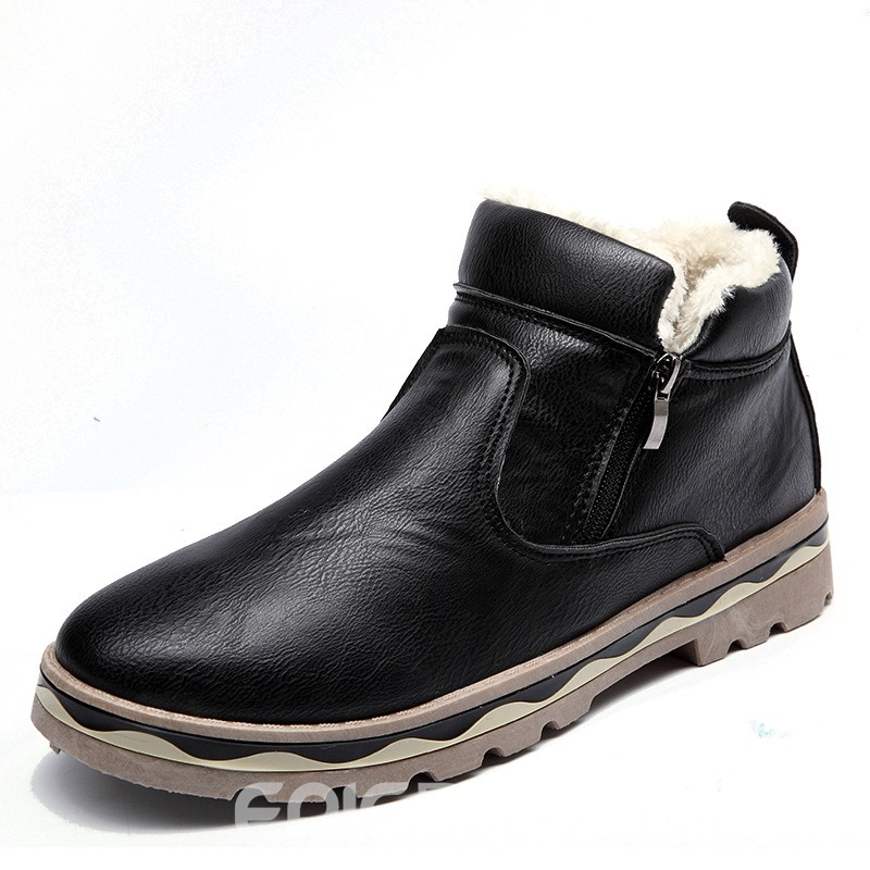 Ericdress Plain Round Toe Slip-On Men's Boots