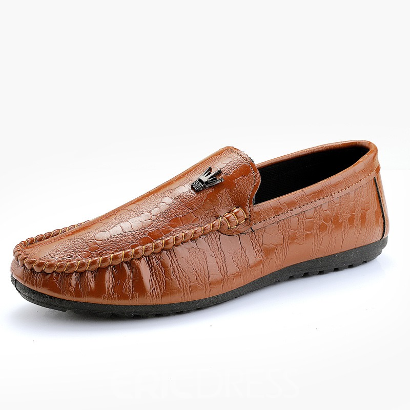 Ericdress Plain Round Toe Slip-On Men's Loafers