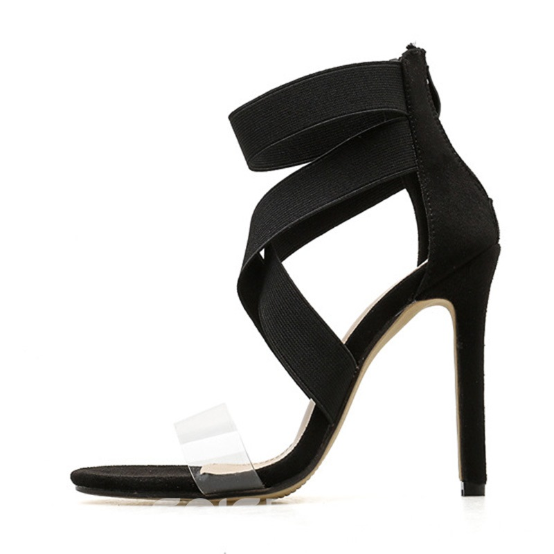 Ericdress Patchwork Stiletto Heel Women's Sandals