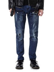 Ericdress Plain Pocket Straight Mens Casual Ripped Jeans 13340966