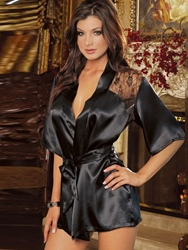 Ericdress Back See-Through Lace-Up Robe фото