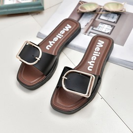 Ericdress Buckle Slip-On Flip Flop Womens Slides
