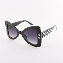Ericdress Fashion 2018 New Style Diamante Pearl Bowknot Summer Sunglasses UV400