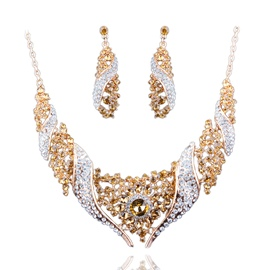 Ericdress Diamante&Gems Luxurious Party Jewelry Set