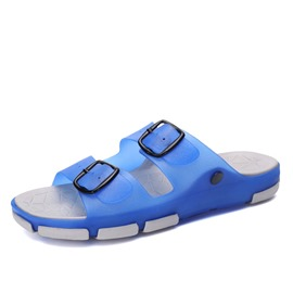 Ericdress PVC Buckle Slip-On Flip Flop Men's Sandals