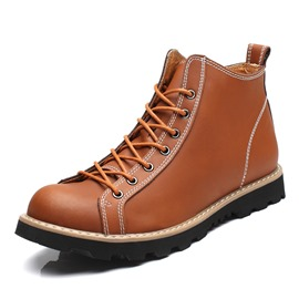 Ericdress Thread Sewing Lace-Up Front Men's Martin Boots