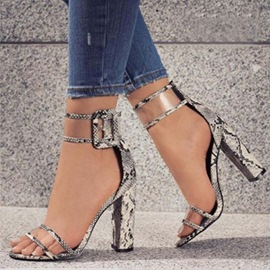 Ericdress Patchwork Heel Covering Chunky Sandals